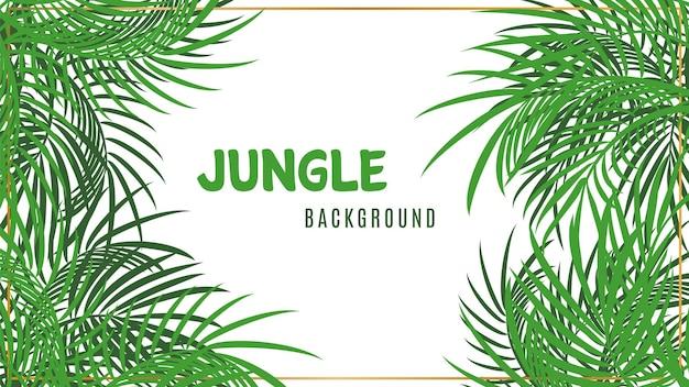 Sfondo della giungla. sfondo verde foglie di palma tropicale