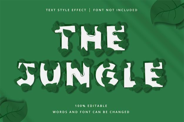 L'effetto di testo modificabile della giungla