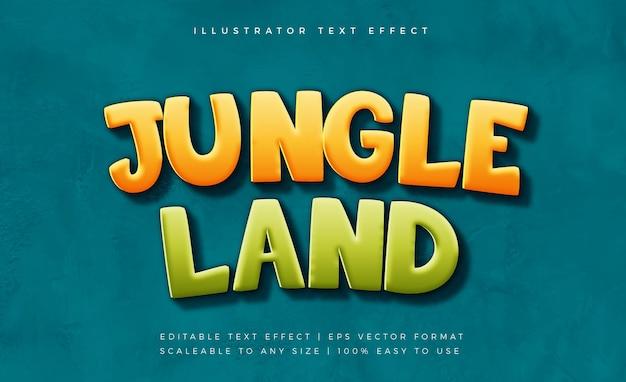 Effetto carattere stile testo jungle land