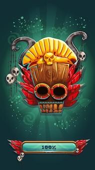 Schermata di caricamento del gioco gui mobile degli sciamani della giungla