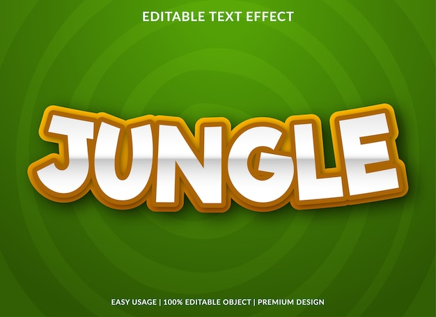 Carattere del fumetto effetto testo giungla