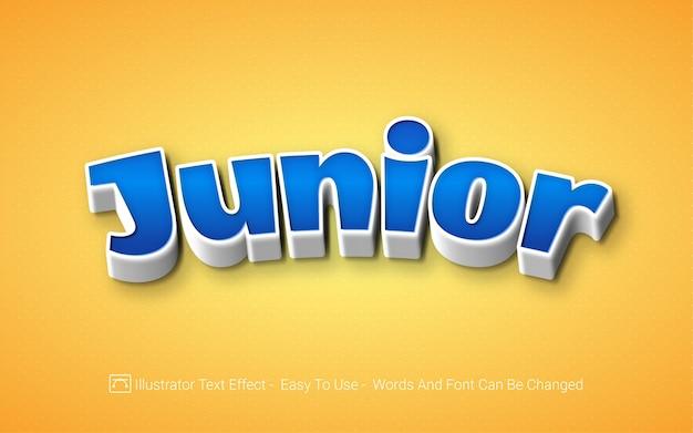 Junior - stile di effetti di testo modificabile