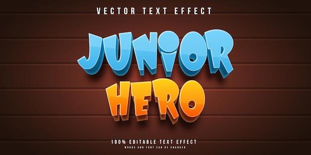 Effetto testo modificabile junior hero