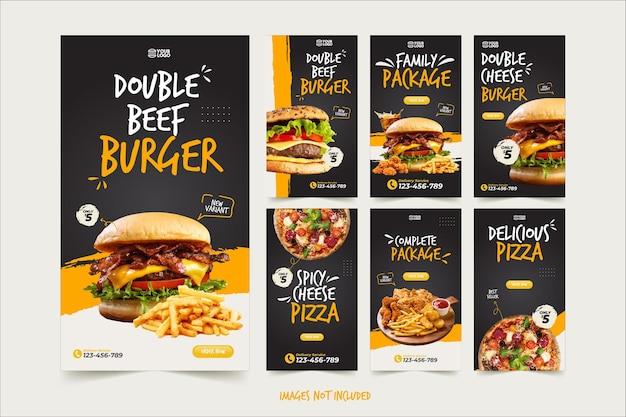 Modello di storia di instagram di cibo spazzatura
