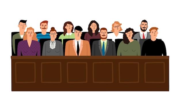 Giuria in tribunale