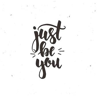 Sii solo il tuo design calligrafico