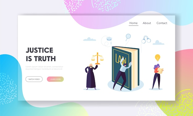 Justice is truth landing page.