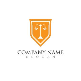 Diritto di giustizia logo template illsutration vettoriale design logo