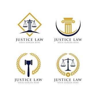 Modello di logo di giustizia.