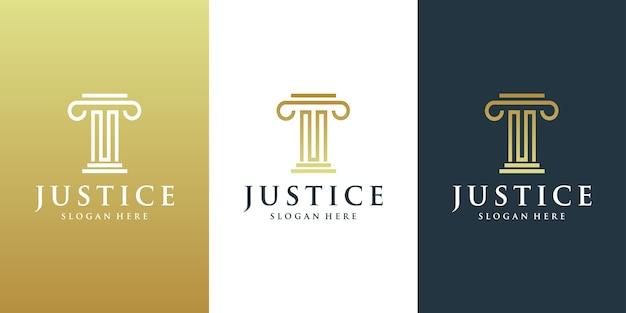 Design del logo della giustizia