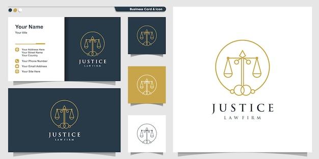 Logo della giustizia con il concetto di linea circolare