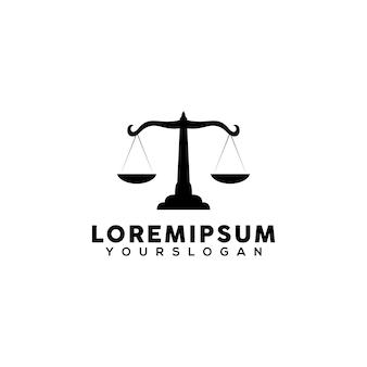 Vettore di progettazione del logo della scala della giustizia