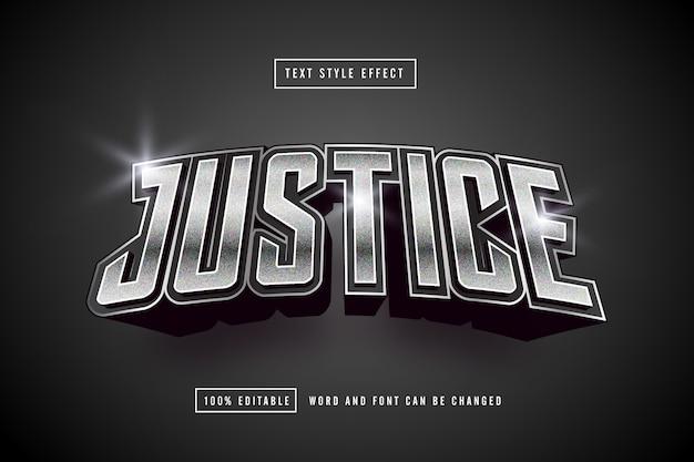 Giustizia argento effetto testo modificabile