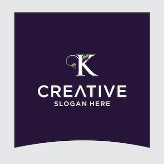 Disegno del logo dell'uva k