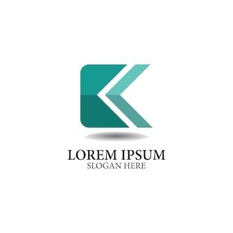 K lettera logo design