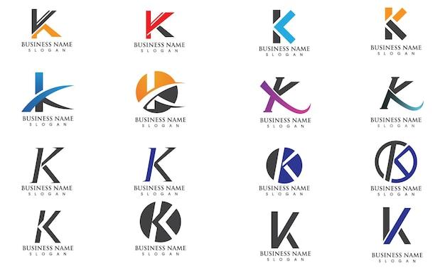 Icona di illustrazione vettoriale lettera k logo template design