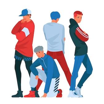 Concetto di gruppo k-pop boy