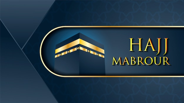 Kaaba per hajj mabrour alla mecca in arabia saudita