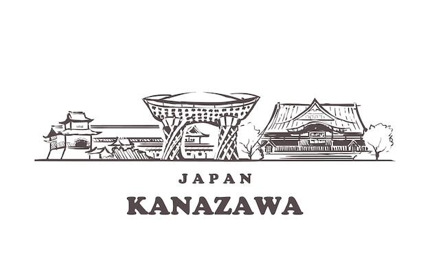Skyline di kanazawa in giappone