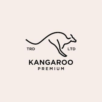 Logo premium vintage linea canguro