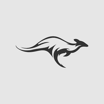 Canguro logo design vector