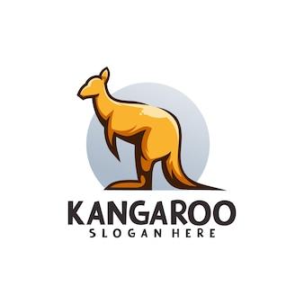 Modello logo mascotte canguro