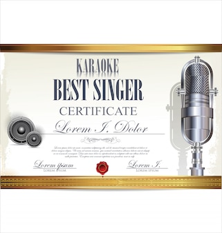 Certificato di karaoke