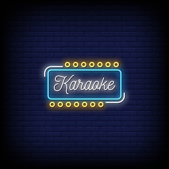 Karaoke neon signs style text