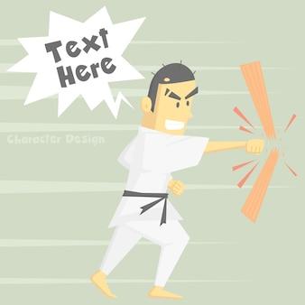Karate personaggio dei cartoni animati