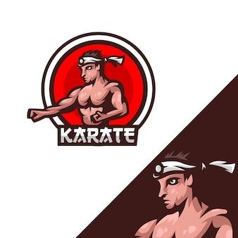 Illustrazione del logo di karate