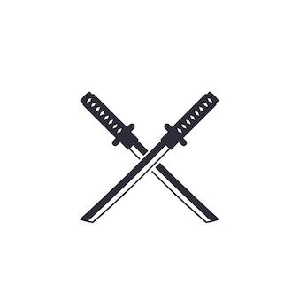 Icona di vettore di katana