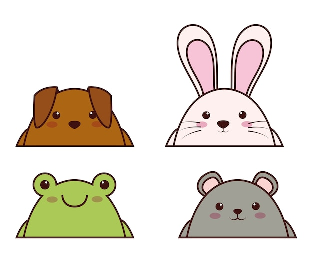 Icona di animali kawaii