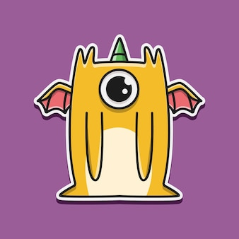 Kawaii cartoon monster doodle design illustrazione