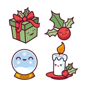 Collezione natalizia kawaii