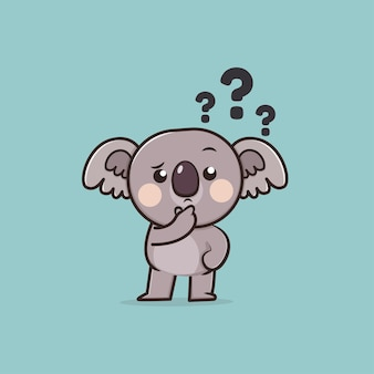Kawaii cute animal wildlife koala icon mascotte illustrazione