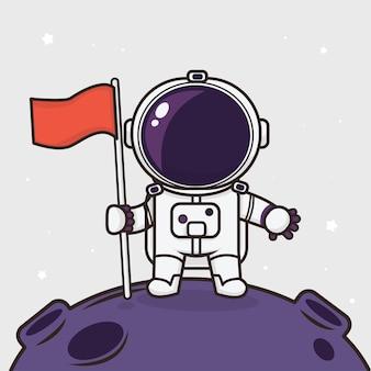 Kawaii carino astronauta
