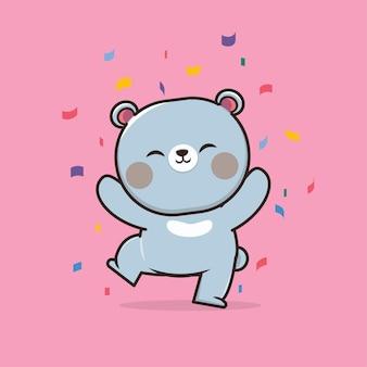 Kawaii carino illustrazione orso