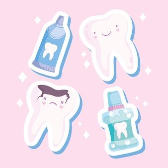 Set per la cura dei denti kawaii