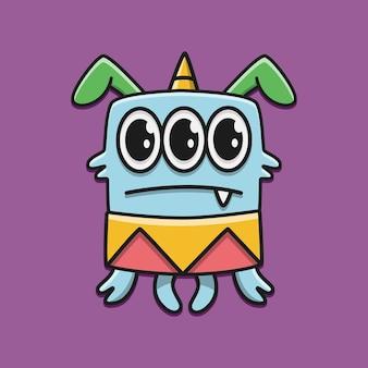Kawaii doodle personaggio dei fumetti monster design illustrazione
