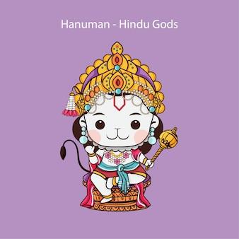 Kawaii hanuman uno dei personaggi centrali dell'epopea indù ramayana