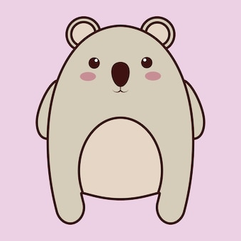 Icona animale kawaii koala