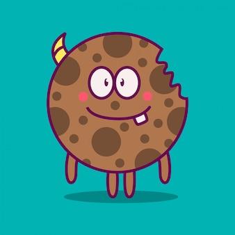 Illustrazione di doodle mostro kawaii