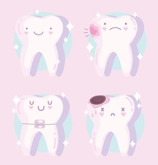 Set di denti kawaii