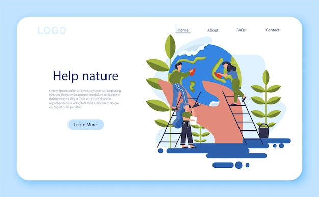 Mantieni un'idea pulita della terra. riciclare e pulire il concetto. ecologia e cura dell'ambiente. idea di riutilizzo dei rifiuti. banner web.