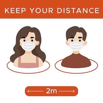 Mantieni il segno della distanza