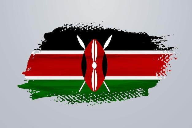 Bandiera del kenya pennello vernice