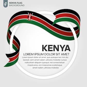 Illustrazione vettoriale di bandiera del nastro del kenya su sfondo bianco
