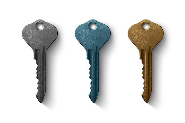 Chiave per la serratura della porta, oggetto realistico