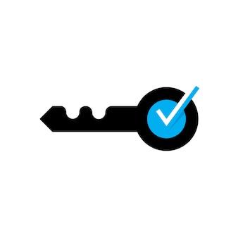 Logo chiave sicuro e immobiliare