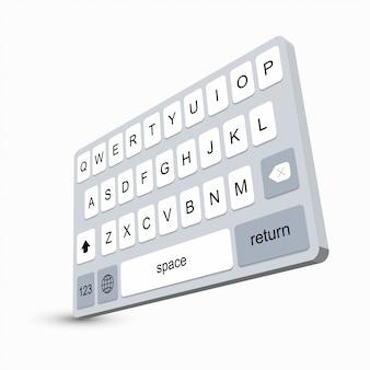 Tastiera dello smartphone